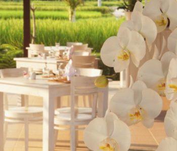 villa in ubud Restaurant
