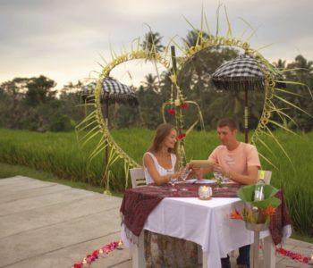 villa in ubud Romantic Dinner 001