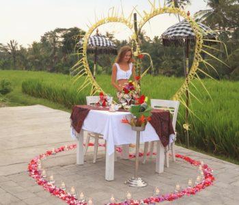 villa in ubud Romantic Dinner 002