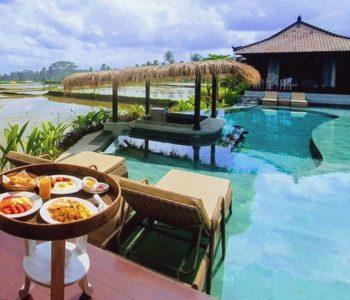 villa in ubud poolbar-breakfast